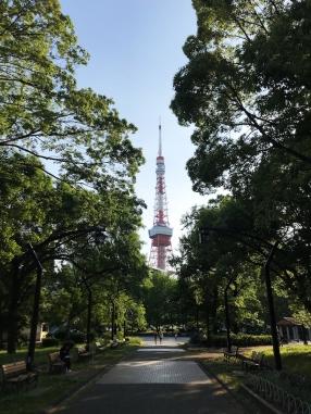 Le parc Shiba à Tokyo